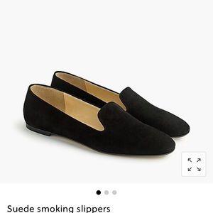 Jcrew suede smoking slipper